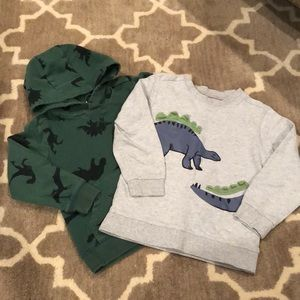 4T Carter's Dino Sweatshirt Bundle